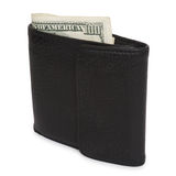 Black wallet with the pack of dollars Royalty Free Stock Photos