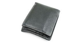 Black wallet Royalty Free Stock Image