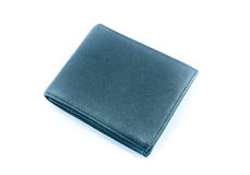 Black wallet on white background. Isolate Royalty Free Stock Image