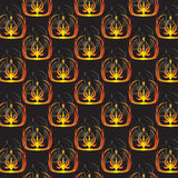 Black wallpaper pattern with ornament Royalty Free Stock Images