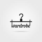 Black wardrobe icon with shadow Royalty Free Stock Photo