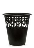 Black wastebasket Royalty Free Stock Image