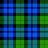 Black Watch milytary tartan seamless pattern Stock Photo