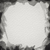 Black Water Color Frame. Frame from  watercolor stains on white paper Royalty Free Stock Photos