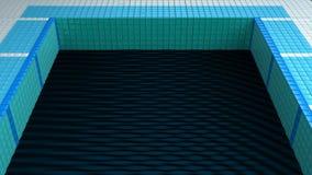Black water pool Royalty Free Stock Photos