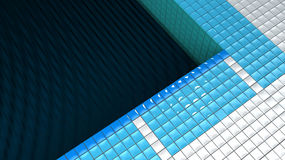 Black water pool Royalty Free Stock Photography