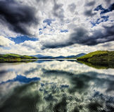 Black Water. Riano's lake, Picos de Europa Natural Park, Spain Stock Images