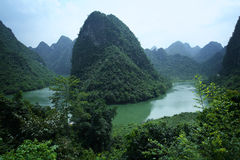 Black water river. Black water river,which is near the great fall,has the total length of 150 kilometers. It springs from the Jingxi county (Guangxi Stock Images