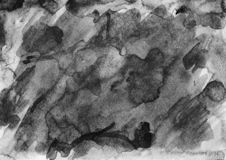 Black and white watercolor background for creating design layout. Black watercolor background for designers, mock-ups, invitations, postcards, like canvas for royalty free stock images
