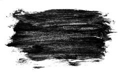 Black watercolor background. Painted on paper royalty free stock photos
