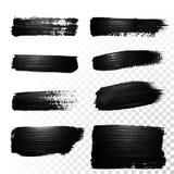 Black watercolor marker brush stroke. Vector oil paint gouache. Black watercolor brush stroke. Highlighter marker glossy dab. Abstract oil paint polish splash vector illustration