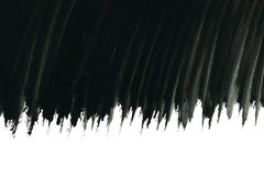 Black watercolor brush strokes Royalty Free Stock Images