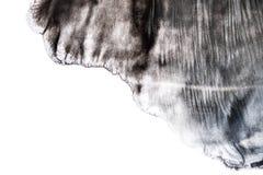 Black watercolor brushstroke pattern isolated on white background. Black watercolor brushstroke pattern isolated white background stock image