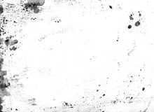 Black watercolor splashes isolated on white. Black paint stains texture. Ink blots isolated on white background. Abstract watercolor splashes. Grunge backdrop Stock Illustration