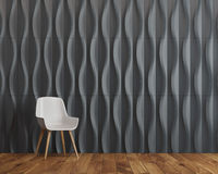 Black wave background room, chair Royalty Free Stock Photography