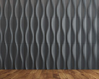Black wave background room Stock Image