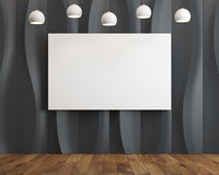 Black wave background room, poster Stock Photo