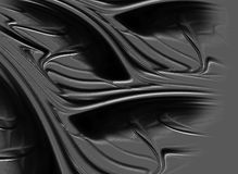 Black waves. Black and wavy absract background Stock Illustration