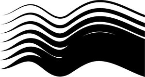Black waves Stock Photography
