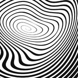 Black wavy spiral on white Stock Images