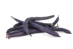Black wax beans. On the white background Royalty Free Stock Images