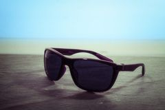 Black Wayfarer Sunglasses Royalty Free Stock Photo