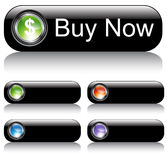 Black Web Button Set Royalty Free Stock Photos