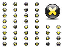 Black web buttons Royalty Free Stock Image