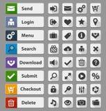 Black web design buttons set Royalty Free Stock Photo