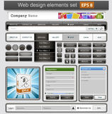 Black web design elements set. Royalty Free Stock Image