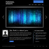 Black web design template Stock Photography