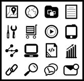 Black web icon set Royalty Free Stock Photography