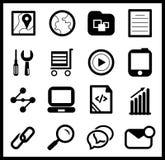 Black web icon set Royalty Free Stock Photography