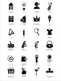 Black web icons Stock Photos