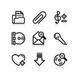 Black web icons, set 11 Stock Image