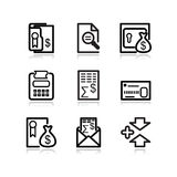 Black web icons, set 14. Vector icons set. Web, internet, website, pictograms Stock Images