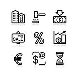 Black web icons, set 25 Royalty Free Stock Photo