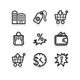 Black web icons, set 26 Royalty Free Stock Photos