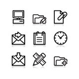 Black web icons, set 27 Royalty Free Stock Photo