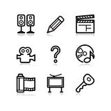 Black web icons, set 28. Vector icons set for internet, website, guides