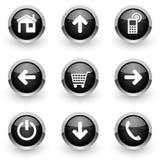 Black web icons set Stock Photo