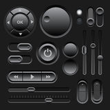 Black Web UI Elements Design Royalty Free Stock Image