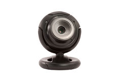 Black webcam on a white background Stock Image