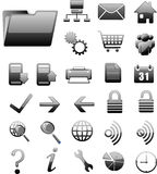 black website and internet icon Stock Image