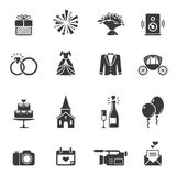 Black wedding icons Royalty Free Stock Image