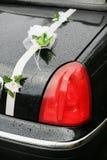 Black wedding limousine Stock Image