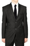 Black wedding suits for men, Isolated on white. Stock Photography