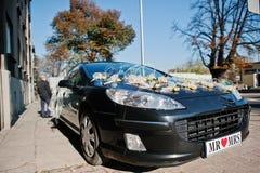 Black weding car Stock Image
