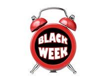 Black week clock alarm reminder isolated Royalty Free Stock Images