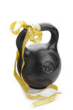 Black weight. The weight of 24 kg on a white background Royalty Free Stock Images